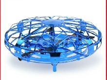 Mini UFO Drone Toys USB Charging Kids Infrared Hand Sensor Model Toy (Blue)
