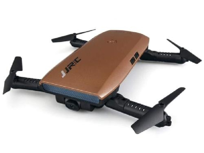 Drone Pliable de transmission de HD, WIFI FPV, JJRC Quadcopter (Or)