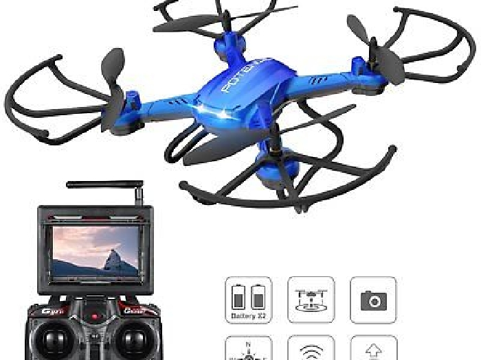 Fonction Stepless-speed RC drone F181DH 5.8GHz 4CH 6-Axis Gyro RC Quadcopter