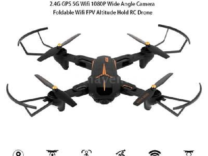 VISUO XS812 2.4G GPS 5G Wifi 1080P Wide Angle Camera Foldable RC Drone