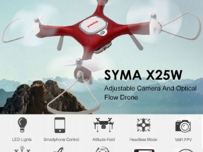 Syma X25W Adjustable 720P Wifi FPV Drone Headless Mode Optical Flow Quadcopter