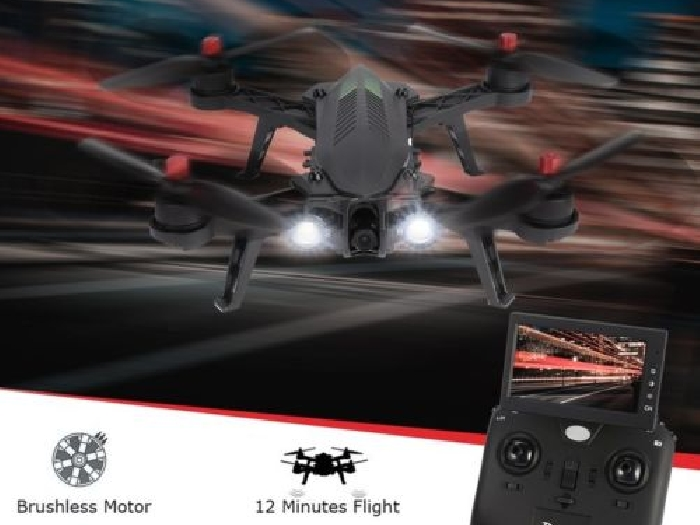 MJX Bugs 6FD 2.4G RTF Drone With 5.8G 720P FPV Camera RX Monitor RC Quadcopter