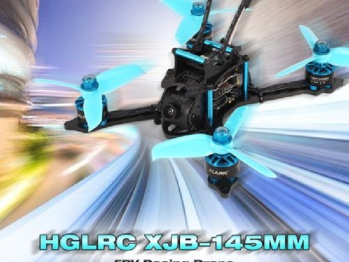 HGLRC XJB-145MM FPV Racing Drone OmnibusF4 28A Blheli_S ESC Switchable  ZU