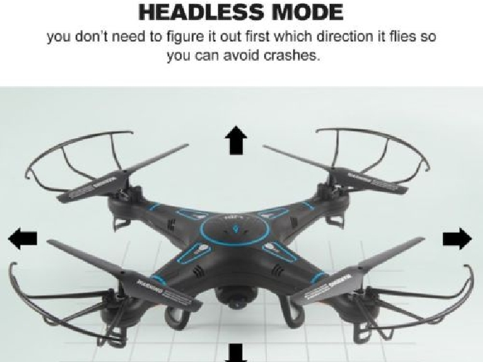 L20 FPV RC Drone Quadcopter with Real-Time 0.3MP Camera Headless Mode 3D-f FR
