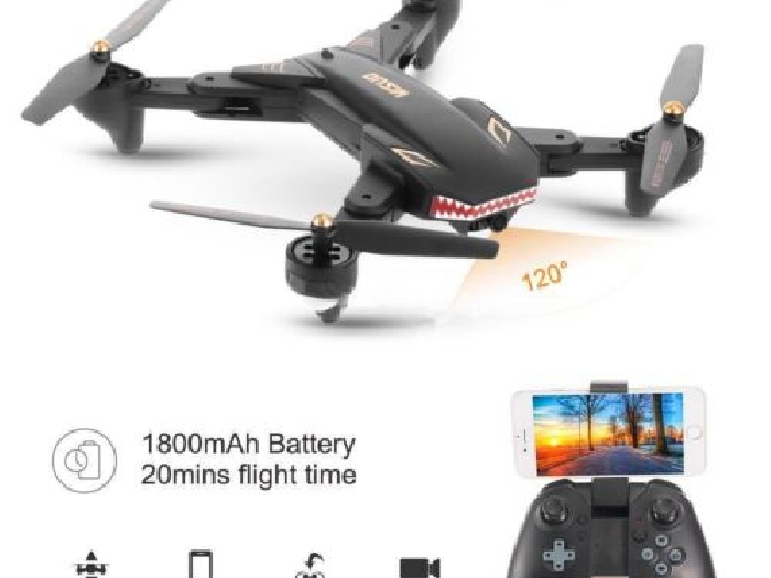 TIANQU VISUO XS809S Drone Foldable Design 6 Axis Gyro 20 Min Flight Time App FGG