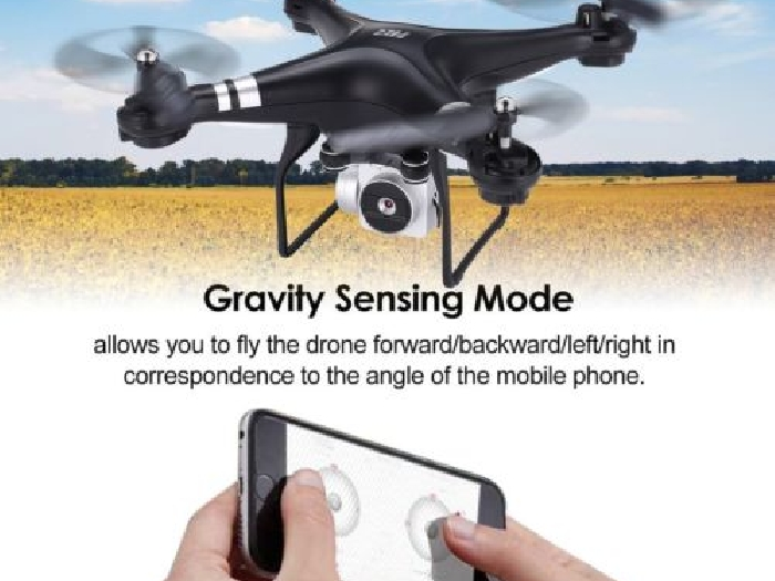 SH5H Wifi FPV Drone Wide Angle 1080P 2MP Camera 4CH Mini RC Quadcopter RTF Toy D