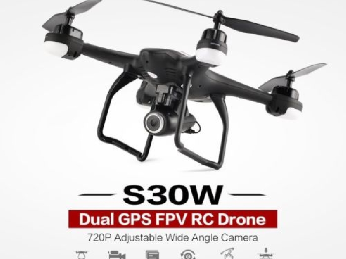 SJ R/C S30W 720P Adjustable Wide Angle Camera Dual GPS FPV RC Drone Hoveri TD