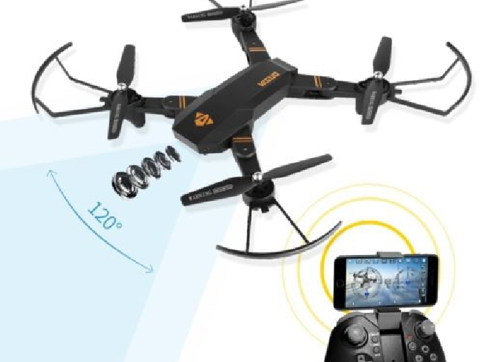 DRONE SILUROID VISUO XS809H -W-HD-G CAMERA