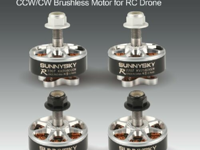 SUNNYSKY E-R2207 3-4S 2580KV Lightweight CCW/CW Brushless Motor for RC Drone WZ
