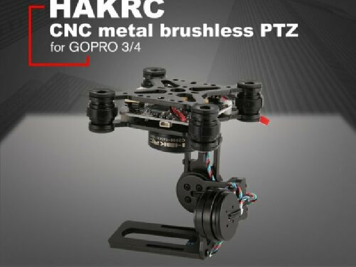 HAKRC 3-Axis Brushless PTZ Control Panel Gimbal for Drone Gopro3/4 DJI Phan MZ