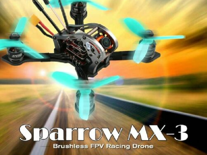 GEPRC Sparrow MX-3 Micro 5.8G 600TVL Camera Brushless FPV Racing Drone BNF  MZ