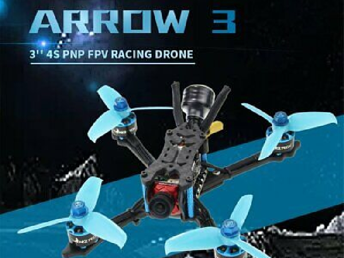 HGLRC Arrow 3 FPV Racing Drone 4S BNF Quadcopters With Flysky A8S V2 Recei BF