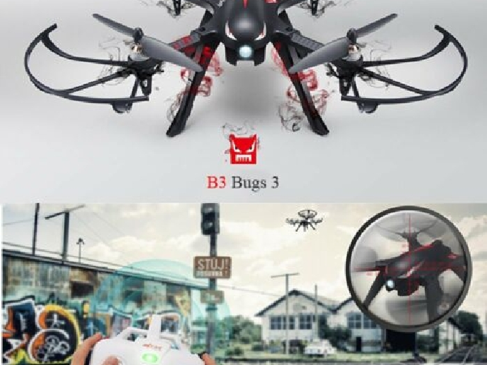 MJX Bugs 3 Brushless Drone 2.4GHz 3D Flips RC Quadcopter with Camera Mount LOT