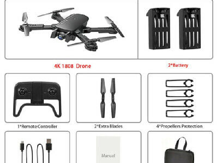 RC Drone x pro 5G Selfie WIFI FPV With 4K HD Dual Camera Foldable RC FL