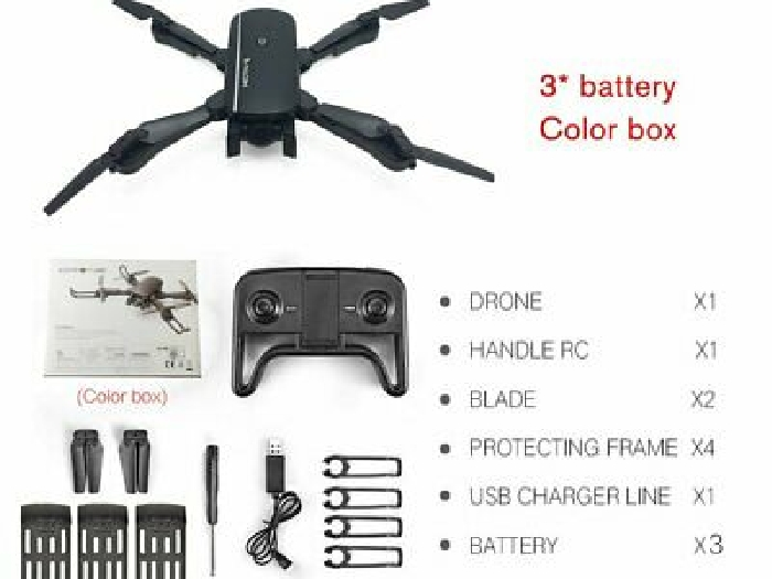 RC Drone x pro WIFI FPV With 4K HD Dual Camera Optical Flow Foldable FL