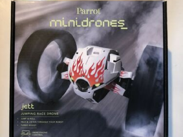 Minidrones Parrot Jumping Race Drone Jett (Blanc Flammes) Neuf