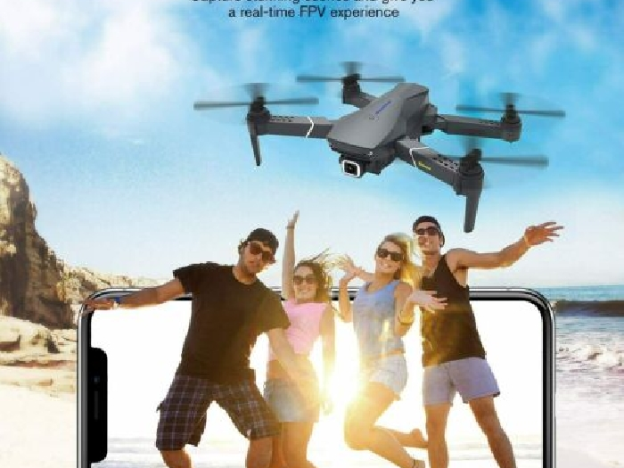 Drone Camera E520 EACHINE GPS WiFi Gyro Pliable Quadcopter  2xBatteries