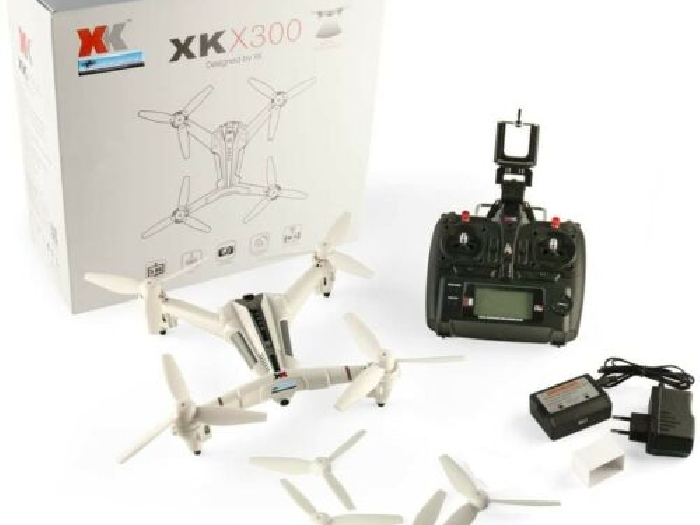 XK X300 - W Brushed RC DRONE WiFi FPV 720P HD 2.4GHz 8CH 6 axes Gyro 2 Batteries